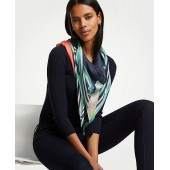 Tropical Floral Colorblock Scarf