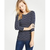 Stripe Boatneck 3/4 Sleeve Tee