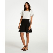Tipped Flare Sweater Skirt