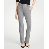 The Straight Leg Pant In Puppytooth - Curvy Fit