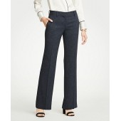 The Madison Trouser In Speckled Twill - Curvy Fit