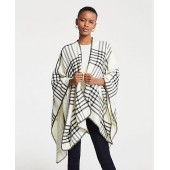 Windowpane Poncho