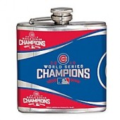 MLB Chicago Cubs World Series Champions Stainless Steel 6 oz. Flask