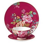 Wedgwood Tea Garden Raspberry 3-Piece Place Setting