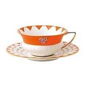 Wedgwood Wonderlust Peony Diamond Teacup and Saucer