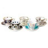 Royal Albert 100 Years 1900-1940 Teacups and Saucers (Set of 5)