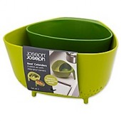 Joseph Joseph Nest™ 2-Piece Colander Set in Green