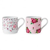 Royal Albert Rose Confetti and New Country Roses 2-Piece Modern Mug Set