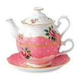 Royal Albert Cheeky Pink Vintage Tea-for-1