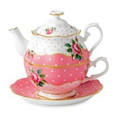 Royal Albert Cheeky Pink Vintage Tea-for-1