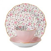 Royal Albert Rose Confetti Vintage 3-Piece Place Setting