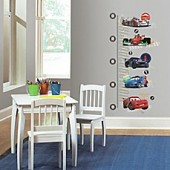 RoomMates Disney Pixar Cars Peel and Stick Metric Growth Chart Wall Decals