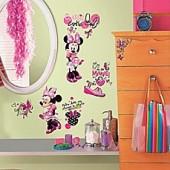 Disney Minnie Fashionista Peel and Stick Wall Decals
