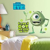 Disney Monsters Inc. Mike Wazowski Giant Peel and Stick Wall Decals