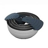 Joseph Joseph 100 Series 9-Piece Stainless Steel Nesting Mixing Bowl Set