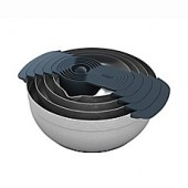 Joseph Joseph 100 Series 9-Piece Stainless Steel Nesting Mixing Bowl Set