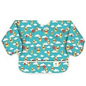 Bumkins Disney Winnie the Pooh with Balloons Long Sleeved Bib in Teal