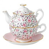Royal Albert New Country Roses Tea Party For One in Rose Confetti