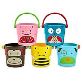 SKIP*HOP 5-Piece Zoo Stack and Pour Buckets