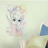 RoomMates Disney Tink I Believe in Fairies Watercolor Graphic Peel and Stick Wall Decal