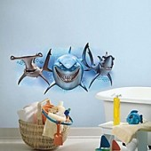 RoomMates Disney Finding Nemo Sharks Peel and Stick Giant Wall Decal