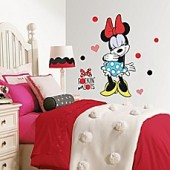 Minnie Rocks the Dots Peel and Stick Giant Wall Decals