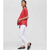Maternity Roll Panel Skinny Jeans in White