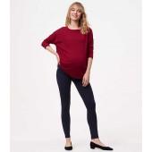 Maternity Heathered Seamed Ponte Leggings