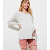 Maternity Frayed Bermuda Shorts