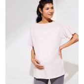 Maternity Flutter Sleeve Boatneck Sweater