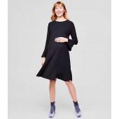 Maternity Ponte Flounce Dress