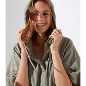 Hooded Poncho Jacket