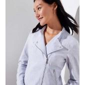 Linen Cotton Moto Jacket