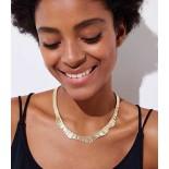 Metallic Fringe Necklace