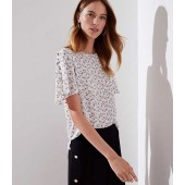 Daisy Chain Covered Button Sleeve Top