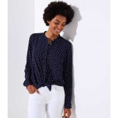 Dotted Utility Blouse