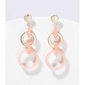 Marbleized Resin Ring Earrings