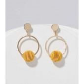 Beaded Ball Ring Drop Earrings