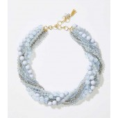 Twisted Multistrand Bead Necklace