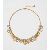 Stone Disc Statement Necklace