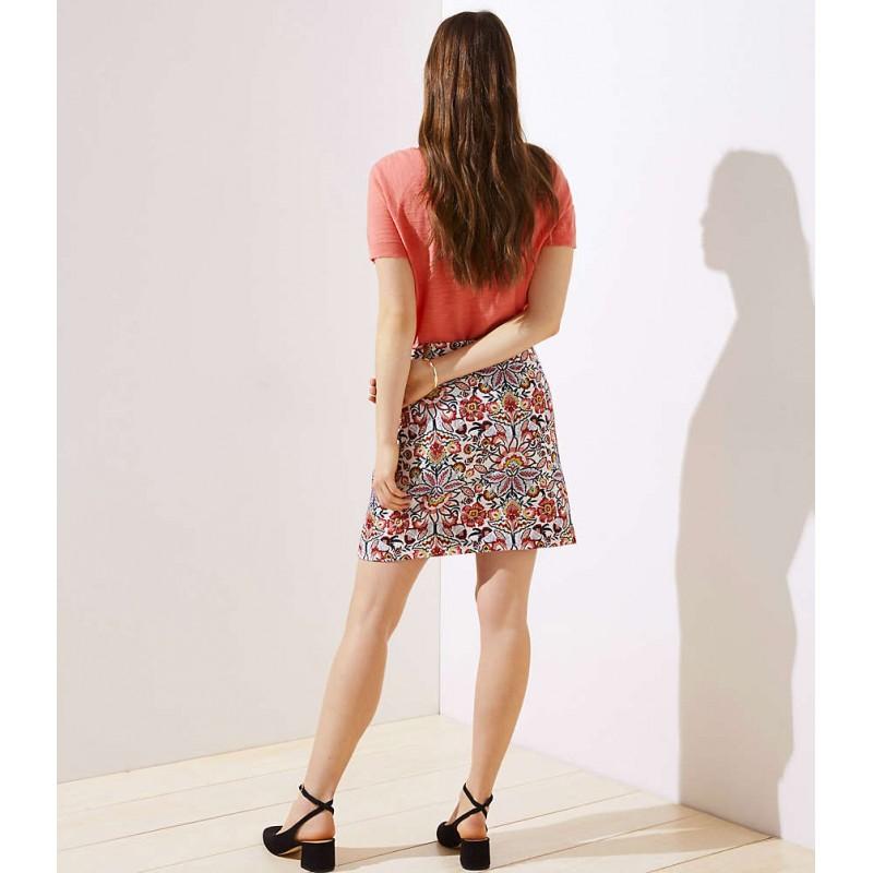 Paisley Jacquard Shift Skirt