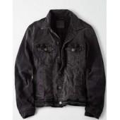 AE Washed Black Denim Jacket