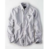 AEO Print Oxford Shirt