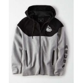 AE Mixed Fabric Zip-Up Hoodie