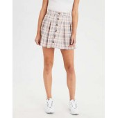 AE Button Front Mini Skirt