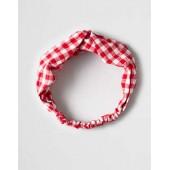 AEO Red Gingham Headband
