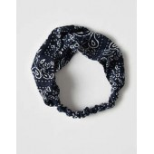 AEO Navy Bandana Twist Headband