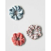 AEO Floral And Velvet Scrunchie Pack
