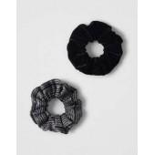 AEO Black Sparkly Scrunchie
