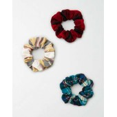 AEO Flannel Scrunchies 3-Pack